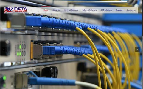 Screenshot of Home Page instatelecom.com - Insta Telecom - Best Internet Service Provider in Afghanistan - captured July 13, 2018