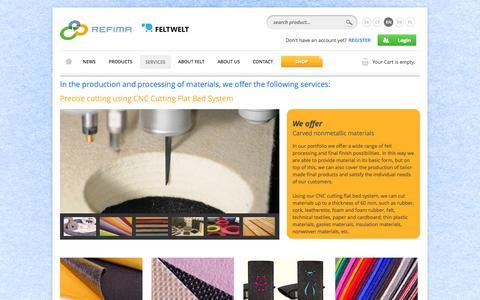 Screenshot of Services Page refima.eu - Services - Refima s.r.o. - captured Oct. 26, 2014