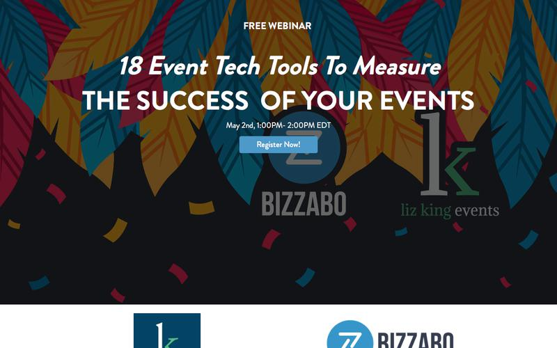 Webinar: 18 Event Tech Tools To Measure The Success Of Your Events