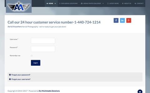 Screenshot of Login Page aerialanywhere.com - Login - captured July 11, 2017