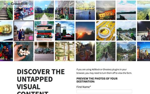 Get a Preview of Your Destination UGC Photos | Crowdriff - Visual Marketing Platform