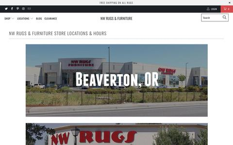 Screenshot of Locations Page nwrugs.com - NW Rugs & Furniture Locations - captured Sept. 19, 2017