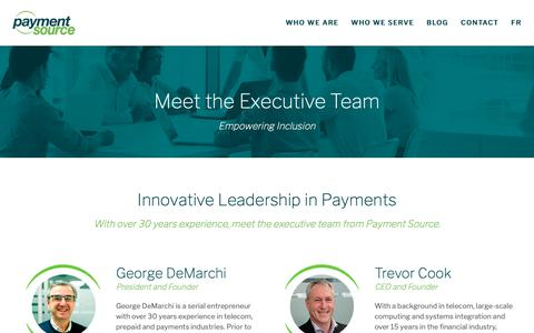 Screenshot of Team Page paymentsource.ca - Payment Source Executive Team - captured Nov. 10, 2018