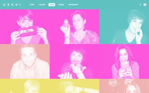 Screenshot of Team Page uschi-salons.de - Team - captured June 10, 2016