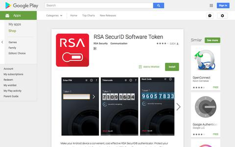 RSA SecurID Software Token - Android Apps on Google Play