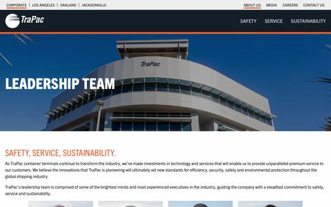 Screenshot of About Page trapac.com - Leadership Team   TraPac - captured Nov. 19, 2018