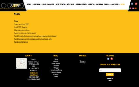 Screenshot of Press Page sitep.net - News - captured Oct. 26, 2014