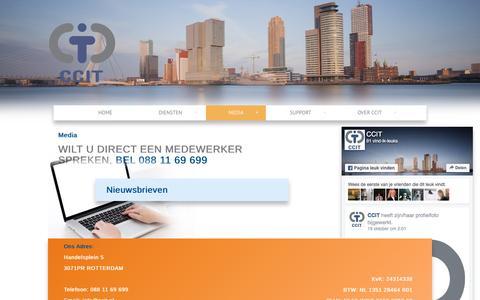 Screenshot of Press Page ccit.nl - Media - CCIT - captured Nov. 12, 2016