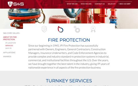 Screenshot of Services Page sssprinkler.com - Services | S&S Sprinkler - captured Oct. 1, 2018
