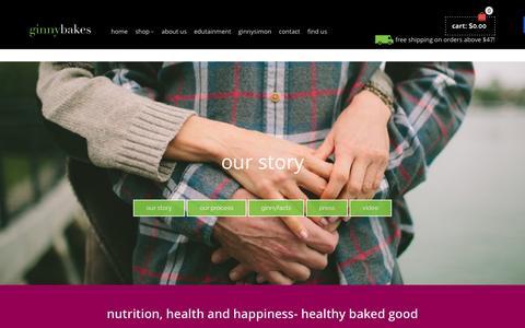 Screenshot of About Page ginnybakes.com - Online Gluten Free, Paleo & Vegan Bakery | ginnybakes - captured Nov. 6, 2015
