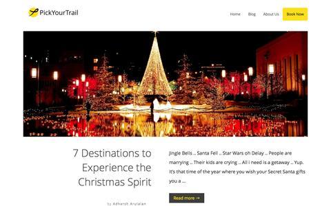 Screenshot of Blog pickyourtrail.com - PickYourTrail Blog - Stop Touring. Start Travelling. - captured Dec. 22, 2015