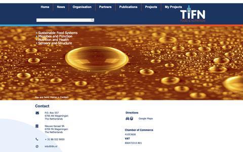 Screenshot of Contact Page tifn.nl - Contact | TiFN - captured Oct. 19, 2018