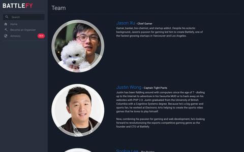 Screenshot of Team Page battlefy.com - Our Team - captured May 9, 2017