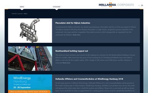 Screenshot of Press Page hollandia.biz - News   Hollandia - captured Dec. 15, 2018