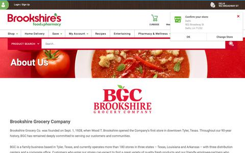 Screenshot of About Page brookshires.com - About Us | Brookshire's Food & Pharmacy - captured Dec. 12, 2018