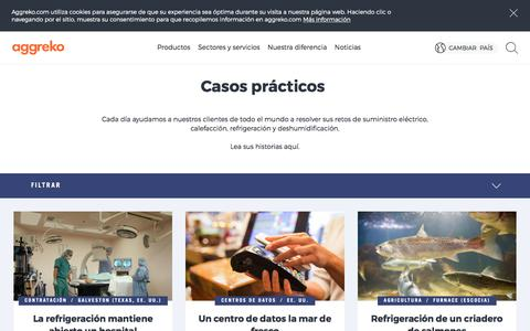 Screenshot of Case Studies Page aggreko.com - Casos de éxito | Aggreko - captured Oct. 7, 2017