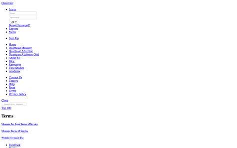 Quantcast Terms of Use | Quantcast