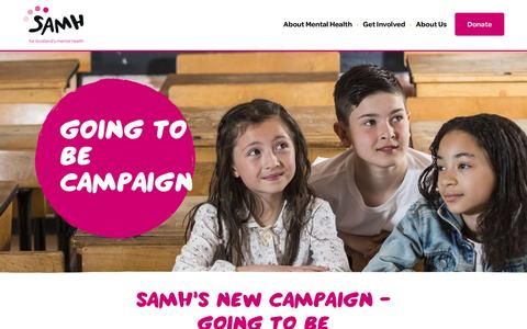 Screenshot of Home Page samh.org.uk - SAMH is the Scottish Association for Mental Health | SAMH - captured May 4, 2017