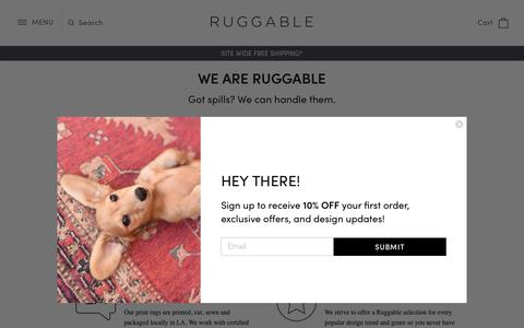 Screenshot of About Page ruggable.com - We Are Ruggable                – RUGGABLE - captured Nov. 5, 2018