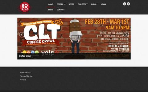 Screenshot of Home Page bocoffee.com - Boquete Mountain Coffee | Home - captured Sept. 8, 2015