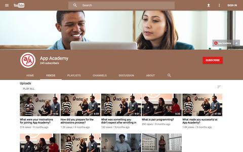 App Academy - YouTube