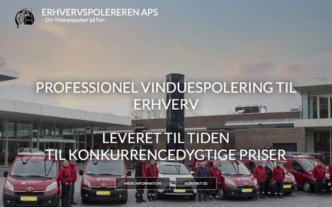 Screenshot of Home Page erhvervspolereren.dk - Erhvervspolereren ApS - Din Vinduespudser på Fyn - captured Feb. 10, 2016
