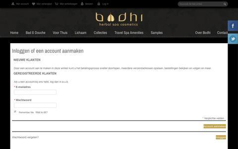 Screenshot of Login Page bodhicosmetics.nl - Klant-login - captured Nov. 23, 2016