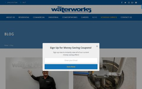 Screenshot of Blog thewaterworks.com - Blog - Trusted Columbus OH Plumbing Company | The Waterworks - captured Sept. 29, 2018