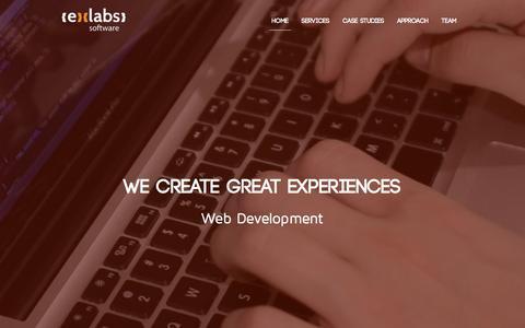 Screenshot of Home Page exlabs.co.uk - Exlabs - captured Feb. 1, 2016