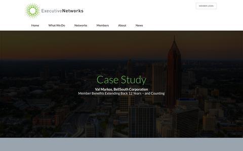Screenshot of Case Studies Page executivenetworks.com - Case Studies | Executive Networks - captured July 18, 2016