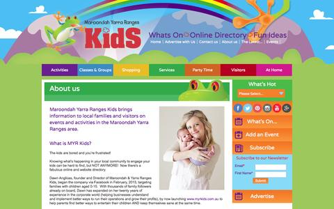Screenshot of About Page myrkids.com.au - About us - Maroondah Yarra Ranges Kids - captured Oct. 2, 2014