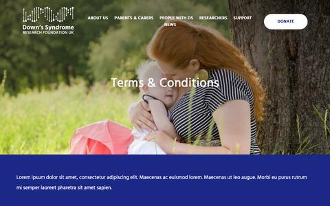 Screenshot of Terms Page dsrf-uk.org - Terms & Conditions   Down Syndrome Research Foundation - captured Nov. 14, 2018