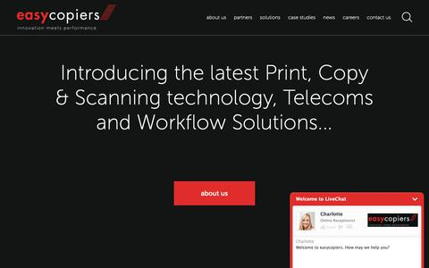 Screenshot of Home Page easycopiers.net - easycopiers - photocopiers, printers and multi-functional devices Milton Keynes - captured Sept. 27, 2018