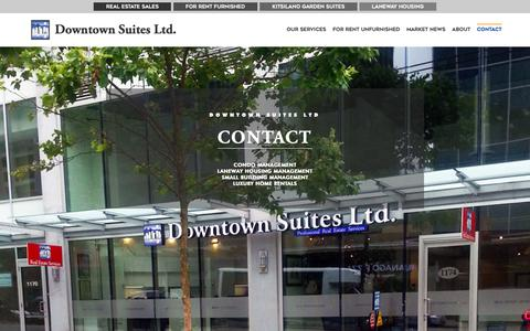 Screenshot of Contact Page downtownsuites.ca - Contact - Downtown Suites, Ltd. - captured Oct. 9, 2018
