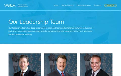 Screenshot of Team Page welltok.com - Our Leadership Team | Learn About Our Founders | Welltok - captured June 14, 2019