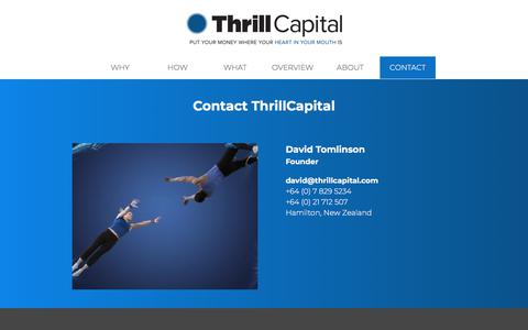 Screenshot of Contact Page thrillcapital.com - CONTACT   Thrill Capital - captured Sept. 21, 2018