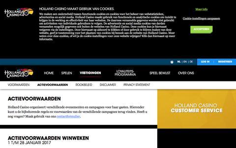 Actievoorwaarden - Holland Casino
