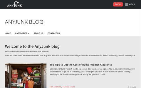 Screenshot of Blog anyjunk.co.uk - AnyJunk Blog - captured Oct. 3, 2018