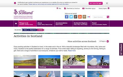 Screenshot of visitscotland.com - Activities & sports - Scotland | VisitScotland - captured Oct. 3, 2015