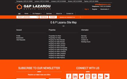 Screenshot of Site Map Page gplazarou.com - G & P Lazarou Site Map - G & P Lazarou - captured Sept. 25, 2018