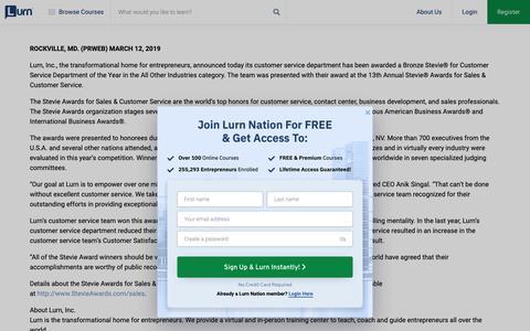 Screenshot of Press Page lurn.com - Lurn -  Press - captured May 10, 2019