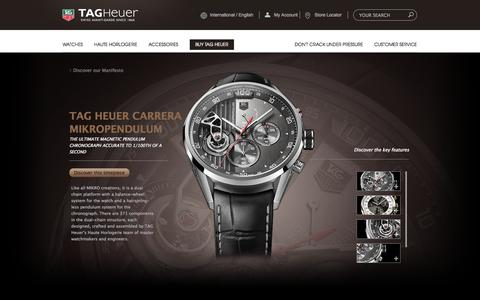 Screenshot of Products Page tagheuer.com - Mikropendulum watch   TAG Heuer - captured Oct. 27, 2014