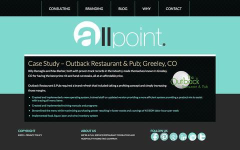Screenshot of Case Studies Page allpoint.org - Case Studies   Allpoint Restaurant Consulting   Denver CO - captured Feb. 5, 2016