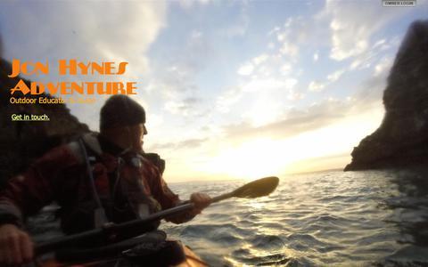 Screenshot of Home Page jonhynesadventure.com - Jon Hynes Adventure - captured March 12, 2016