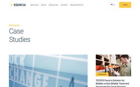 Screenshot of Case Studies Page egencia.com - Case Studies | Egencia - Part 2 - captured July 26, 2018