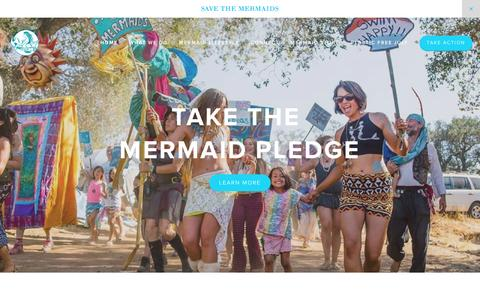 Screenshot of Home Page savethemermaids.org - Save the Mermaids - captured Dec. 22, 2015