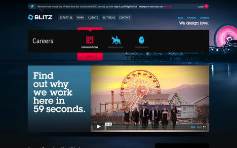 Screenshot of Jobs Page blitzagency.com - BLITZ – Full Service Digital Agency with Social Media Agency Capabilities | Careers - captured Oct. 27, 2014