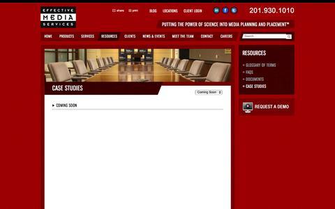Screenshot of Case Studies Page effectivemediaservices.com - Case Studies   Effective Media Services - captured Jan. 26, 2016