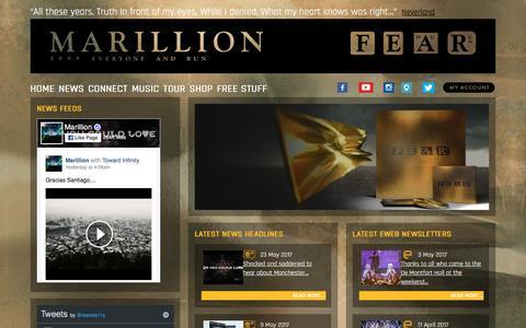 Screenshot of Press Page marillion.com - marillion.com   The Official Marillion Website - captured May 28, 2017