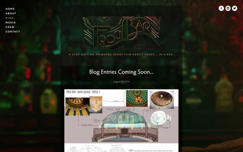 Screenshot of Press Page frogbarfilm.com - Blog — Frog Bar - captured Oct. 27, 2014